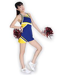 Costumes de Pom-Pom Girl Robes Femme Spectacle Tricot Fantaisie 1 Pièce Sans manche Taille haute Robes