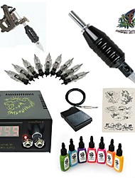 1 Set High Born Tattoo Kit HA9 With 7x15ML Inks 5 Needles Power Supply Switch