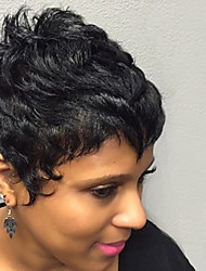 Refreshing  Enchanting Short Curly Human Hair Wigs