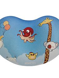 Exco msp020 oreiller à la main chiffon antidérapant confortable peut être lavé 10.5 * 7 * 2cm poignet de souris