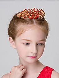 Girl's Crown Rhinestone Decorative Swan Design Charming Hair Accessory