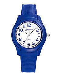 Kid's Sport Watch Quartz Digital Water Resistant / Water Proof Noctilucent Rubber Band Black White Blue