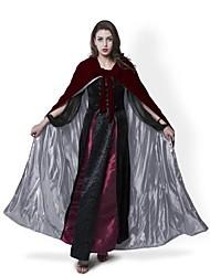 Medieval Burgundy Halloween Velvet Cloak Wedding Hooded Cape Lined Silver Satin Renaissance Wicca LOTR SCA Star Movie Cosplay LARP
