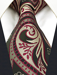 CXL30 Classic Fashion For Men Neckties Unique Extra Long 63 Gray Khaki Paisley 100% Silk Business