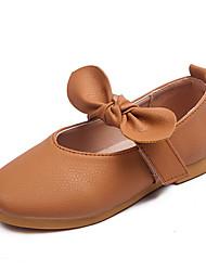 Girls' Flats Comfort Flower Girl Shoes PU Spring Fall Casual Party & Evening Dress Comfort Flower Girl Shoes Bowknot Magic Tape Flat Heel