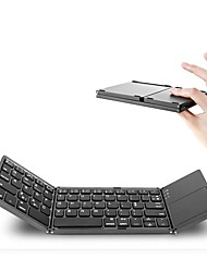 Portable double pli bluetooth clavier bt pavé tactile pliable sans fil pour ios / tablette Android / Windows