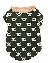 Dog Shirt / T-Shirt Dog Clothes Casual/Daily Skulls Jade