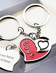 Material Keychain Favors-6 Pairs/Set Love  key Ring  Favors Personalized