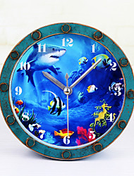 Moderno/Contemporâneo Tema Fadas Relógio de parede,Redonda Inovador Interior Relógio