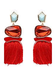 Women's Drop Earrings Jewelry Tassel Hip-Hop Gothic Luxury Oversized Punk Plush Fabric Alloy Geometric Jewelry ForParty Graduation Daily