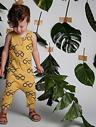 bebê Peça Única Fashion Cor Única Verão 100% Algodão Sem Manga