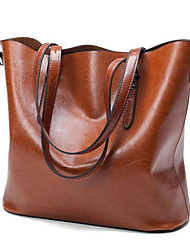 Women Bags All Seasons PU Tote with for Casual Outdoor Black Brown Wine