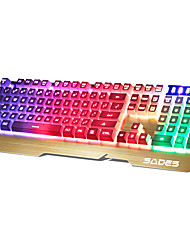 SADES 104Keys USB Backlit Keyboard With 180CM Cable