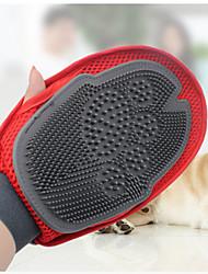 Chien Nettoyage Brosses Portable Rouge