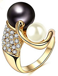 Ring Settings Band Rings Women's Euramerican Luxury Elegant 4 Colors Pearl  Business Anniversary Party Movie Gift Jewelry
