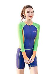 Femme La navigation de plaisance Résistant aux ultraviolets Elasthanne Térylène Tactel Tenue de plongée Manches LonguesCombinaisons