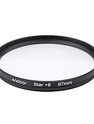 Conjunto de filtro de 70mm e uo cpl estrela Kit de filtro de 8 pontos com estojo para lente de câmera canon nikon sony dslr