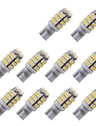 10pcs t10 3014 42smd w5w 42led che indica la luce di lettura della luce della lampada dell'automobile ha condotto le luci della targa di