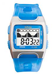Муж. Модные часы Цифровой Защита от влаги Фосфоресцирующий Pезина Группа Синий Розовый Фиолетовый Темно-синий