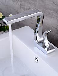 Set de centre Soupape céramique 1 trou for  Chrome , Robinet lavabo