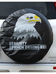 PVC Leather Spare Tire Cover Wheel Tire Cover black with eagle logo universal for Jeep CR-V RV SUV trailer truck R14-R15-R16-R17