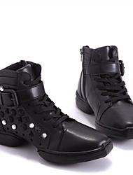 """Women's Jazz Faux Leather Split Sole Practice Low Heel Black Under 1"""""""