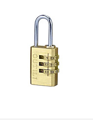 OUTILI Password Copper Padlock Suitcase Lock Padlock Full Copper Password Lock Password Padlock
