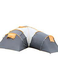 5 a 8 Personas Tienda Doble Carpa para camping Tiendas de Campaña Familiares Impermeable Resistente al Viento Resistente a los UV
