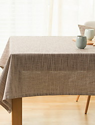 Japanese Linseed Color Cotton And Linen Table Cloths 60*60cm
