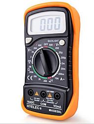hyelec® mas830l dc / ac portable multimètre résistance à la tension de mesure testeur numérique avec rétro-éclairage& protection de cas