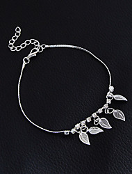 Women's Girls' Anklet/Bracelet Alloy Fashion Vintage Bohemian Punk Handmade Gothic Leaf Jewelry For Wedding Party Training New Baby