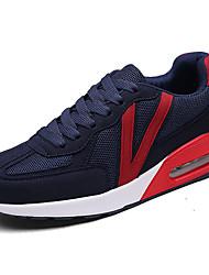 Homme Chaussures d'Athlétisme Confort Tulle Eté Décontracté Marche Confort Lacet Talon Plat Noir Gris Bleu 5 à 7 cm