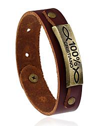 Retro Fashion Alloy Original Punk Genuine Leather Bracelet