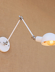 110-120 AC 220-240 60 E26/E27 Vintage Country Painting Feature for Mini Style Swing Arm Eye Protection,Ambient Light Swing Arm LightsWall