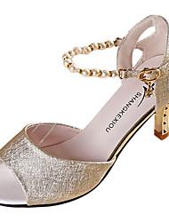 Mujer Sandalias PU Verano Paseo Perla Tacón Stiletto Dorado Blanco Rosa 7'5 - 9'5 cms
