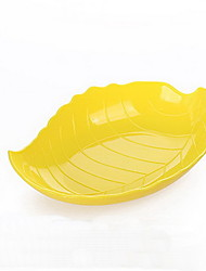 Leaves Plastic Fruit Plate Vegetable Salad Bowl Kitchen Potato Snacks Dry Fruit Plate Simple Korean Bowl