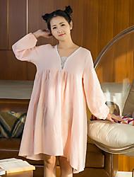 Women's Chemises & Gowns Nightwear Solid-Medium