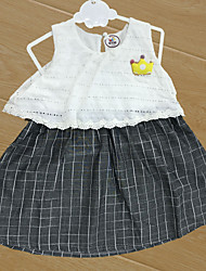 Baby Children's New Baby Cotton Baby Shower Plaid/Check Stripe One-Pieces,Cartoon All Seasons