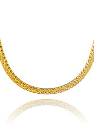 Men's Women's Chain Necklaces Geometric Snake Gold Plated Unique Design Costume Jewelry Euramerican Statement Jewelry Jewelry For Party
