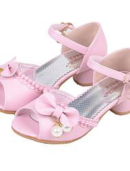 Mädchen Flache Schuhe Komfort Schuhe für das Blumenmädchen Kunstleder Sommer Herbst Normal Kleid Komfort Schuhe für das Blumenmädchen