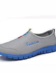 Women's Athletic Shoes Walking Comfort Tulle Summer Casual Flat Heel Gray Fuchsia Light Blue 2in-2 3/4in