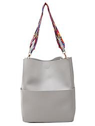 Damen Bag Sets PU Ganzjährig Normal Barrel Bag Magnetisch Blau Schwarz Grau Braun
