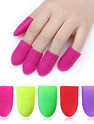 5 Pcs Silicone Nail UV Gel Polish Remover Wraps Kits 6 Colors Available Soak Off Cap Clip Soaker Caps Manicure Nail Art Tools