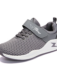 Boys' Athletic Shoes Comfort Spring Fall Knit Running Shoes Athletic Split Joint Flat Heel Black Gray Light Pink Flat