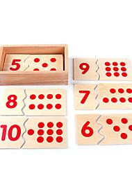Costruzioni Carte educative per il regalo Costruzioni Quadrato 1-3 anni 3-6 anni Giocattoli