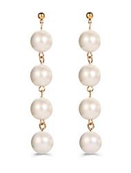Femme Boucles d'oreille goutte Perle imitéeCirculaire Original Pendant Cercle Imitation de perle Mode Vintage Bohême Style Punk