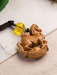 Sac / téléphone / porte-clés charme cheval dessin animé jouet en bois chinois