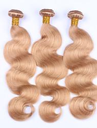 Beata Hair Honey Blonde Brazilian Hair Weave Bundles Body Wave 3 Pcs #27 Non-remy Human Hair Bundles 10-24inches