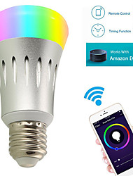 YWXLIGHT® 8W E27 LED Smart Bulbs A60(A19) 22 SMD 2835 600 lm RGB White WIFI AC 85-265 V 1 pc
