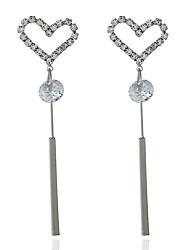 Women's Drop Earrings Rhinestone Love Heart Alloy Jewelry For Dailywear Casual Stage